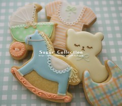 baby shower cookies 2 (JILL's Sugar Collection) Tags: food baby cookies animal decoration sugar icing foodcolor royalicing sugarcraft