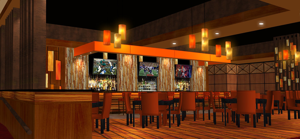 Bar & Lounge Design | 3D Lounge Rendering | Bar Decor Design | Interior Casino Bar | Sundance Bar & Lounge