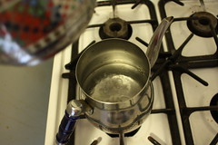 Water Boiling in Lower Tea Pot