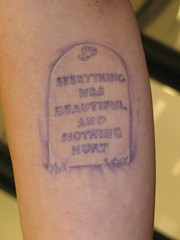 Vonnegut (Mez Love) Tags: grave memorial tattoos kurtvonnegut totaleclipse mezlove everythingwasbeatiful
