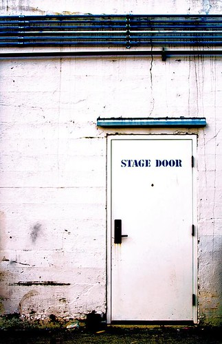 The Glamor Of Show Business - the back stage door at the Elsinore Theater in Salem Oregon