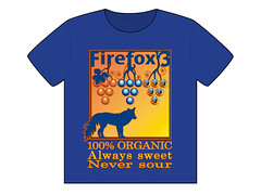 Fox and Grapes T-shirt (faith goble) Tags: art illustration digital advertising logo design artist photographer bluegrass drawing kentucky ky contest tshirt fox poet writer illustrator organic tee vector aesop adobeillustrator ff3 sourgrapes bowlinggreenky firefox3 bowllinggreen faithgoble grafixer ccbyfaithgoble gographix faithgobleart