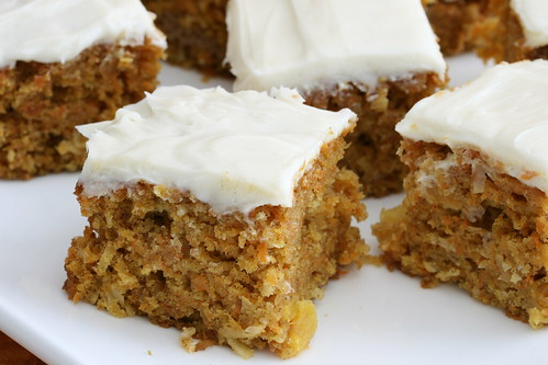 Light Carrot Cake with Cream Cheese Frosting