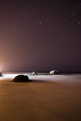Seal Rocks, Night (Tyler Westcott) Tags: ocean sanfrancisco california longexposure night stars coast explore pacificocean shore sutrobaths sealrocks startrails cliffhouse sealrock nikond40