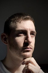 Hold Ur Head Up Boy (Damien Cox) Tags: gay light portrait sun sunlight selfportrait me face self ego myself beard nikon hand head f14 homo homosexual queer scruff stubble 30mm sigma30mmf14exdchsm d40 i damiencox snaptweet dcoxphotography
