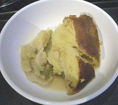 rhubarb and ginger sponge pudding