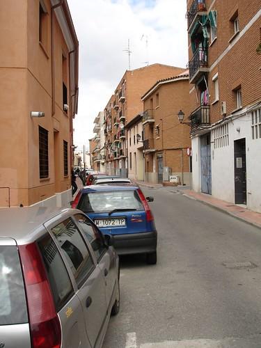 Calle de las Vaqueras desde el Paseo de los Curas en la actualidad