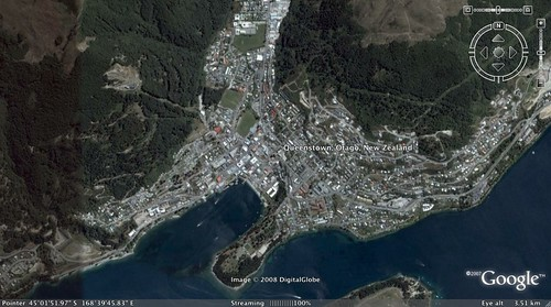 queenstown on google earth