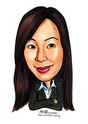 Caricature of property agent
