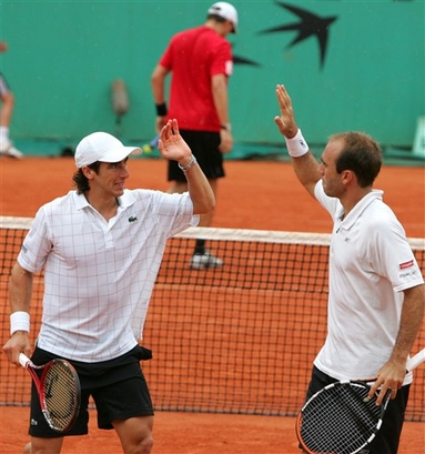 Tenistas Pablo Cuevas y Luis Horna. FRANCE TENNIS FRENCH OPEN