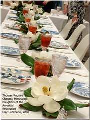 Thomas Rodney DAR May Luncheon (Penny Sanford Porcelains) Tags: china mississippi collection magnolia patchwork collecting blueroom commemorative dinnerware ralphlauren fostoria spode pennysanfordfikes pennysanford