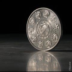 E.U.M. (supernova.gdl.mx) Tags: luz mexico libertad estudio plata moneda iluminacion onza