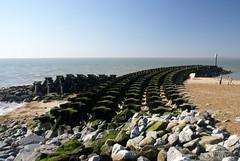 Groin Protection (dj.bp) Tags: sea england coast rocks seasons kitlens protection felixstowe clearsky a100 groin sonyalpha sal1870 sony1870mm