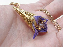 Blossom Orchid pendant....on my hand