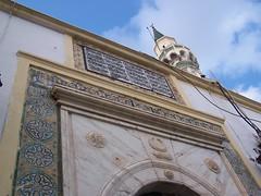 Mosque exterior, Tripoli (gordontour) Tags: door heritage architecture gate minaret mosque crescent ottoman libya tripoli camii minare gurgi hilal osmanlı طرابلس ليبيا tarabulus ottomanstyle طرابلسالغرب