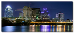 Austin, Texas (James Duckworth) Tags: bridge skyline night photoshop austin river lights texas nightscape bridges hilton austintexas blended townlake lakeaustin d300 frostbanktower austinskyline stevierayvaughn blendedimage abigfave jimduckworth onecommerceplaza jamesduckworth jamesduckworthphotography