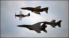 Heritage Flight (Tim.Walker) Tags: show heritage plane eagle air flight jet demonstration f16 falcon strike mustang fighting phantom f4 p51 f15
