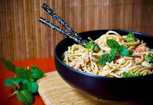 Nearly Raw Tahini Noodles