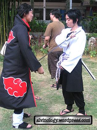 naruto characters fighting