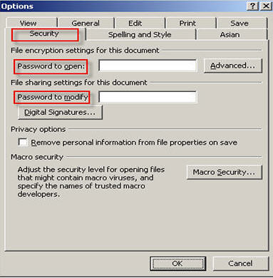 PowerPoint security in 2003