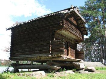 old log cabin storage