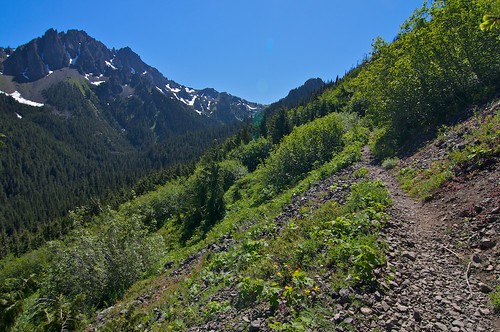 A beautiful photo of the Marmot Pass trail Photo