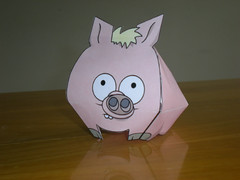 Spider pig (:omar) Tags: thesimpsons papertoy spiderpig puercoaraa