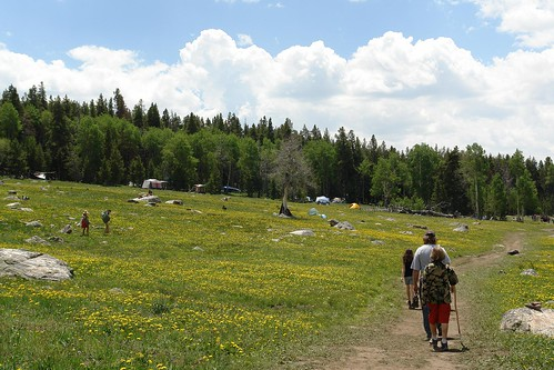 Hiking into the Rainbow Gathering