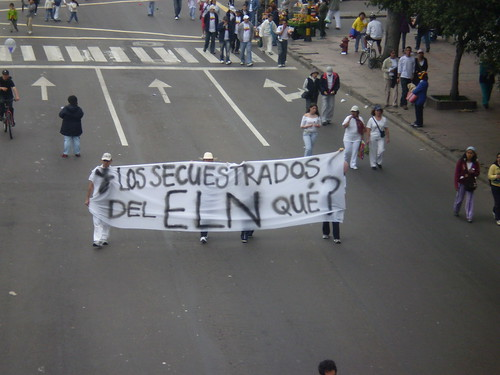 """Marcha 20 de julio - """"¿Y los secuestrados del ELN qué?"""""""