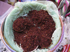 Chapulines, (dry roasted, spiced grasshoppers)