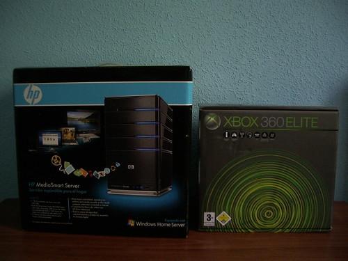 HP MediaSmart Server y Xbox 360 Elite