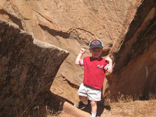 At Petroglyph Park in St. George.