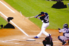 2008 MLB All-Star Game - Home Run Derby - Josh Hamilton makes contact (Al_HikesAZ) Tags: nyc newyork game home sports 510fav major hit texas risk baseball action manhattan hamilton run player professional josh players 2008 rangers allstar yankeestadium league homerun mlb allstargame beisbol joshhamilton homerunderby  majorleaguebaseball alhikesaz nyc2008 jonrn
