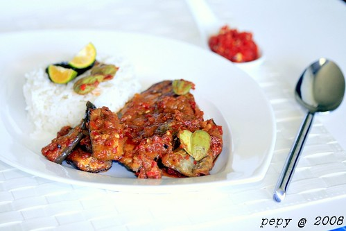 King Mackerel, Eggplant and Petai Balado_hor