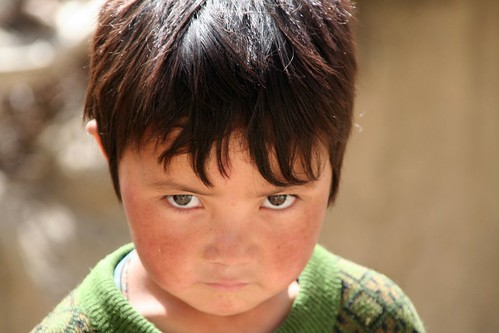 One child in Ladakh, India
