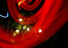 Starry Plasma Stream (binaryCoco) Tags: light red lightpainting tree rot night garden dark painting spiral star licht weide nacht torch willow leafs stern blätter garten baum dunkel taschenlampe spirale lichtmalerei pocketlamp cmwd cmwdred colourartaward colourmania