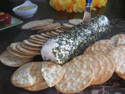 Finished Herbed Goat Cheese