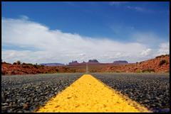 Mile 13 (Mario Mancuso) Tags: road usa yellow america utah us strada unitedstates unitedstatesofamerica perspective giallo asphalt 163 statiuniti mile13 roadline statiunitidamerica route163 milemarker13