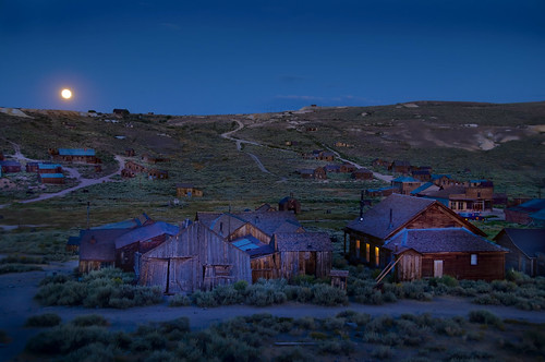 Moonrise over Bodie