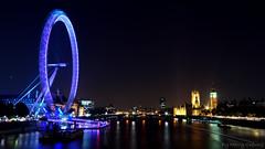 London Eye in Night Light Motion