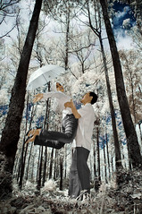 i'm with you......... (yoga - photowork) Tags: canon ir fun photography couple v3 infrared romantic 1855mm prewedding