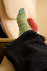 futab (365.298) (splityarn) Tags: selfportrait me socks stripes mismatchedsocks 365days incaseyouwerewondering futab feetuptakeabreak causeiknowmymumwillcalltomorrowaskingwhatitmeans