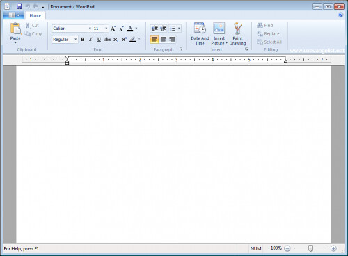 WordPad do Windows 7
