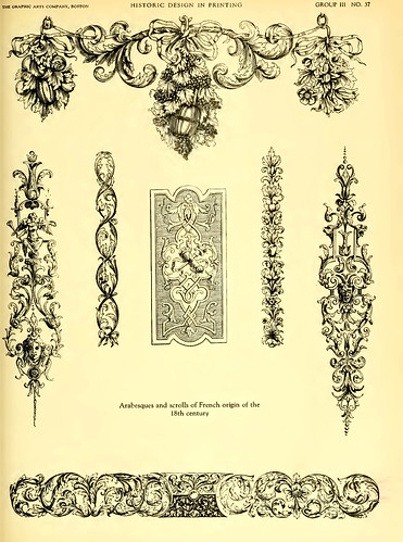 16a- Arabescos y volutas de origen frances siglo XVIII