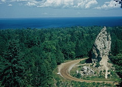 Needle Rock, Mackinac Island, Michigan, 1959 (lreed76) Tags: michigan mackinacisland lakehuron 1959 needlerock