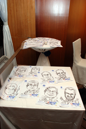 Caricature live sketching for GE Healthcare MI Symposium b