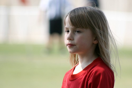 Cassie Thoughtful At Soccer
