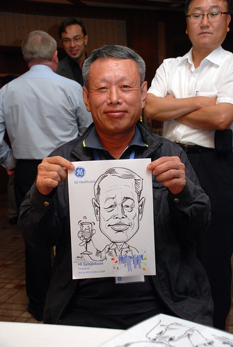 Caricature live sketching for GE Healthcare MI Symposium 3