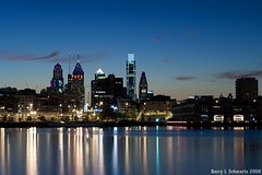 Philadelphia At Dusk (Barry J. Schwartz) Tags: philadelphia nikon nik barryschwartz d700 barryjschwartz