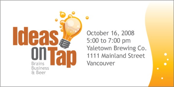 ideas on Tap Networking event